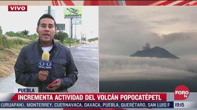 incrementa actividad volcanica el popocatepetl desde el sismo del 7 de septiembre