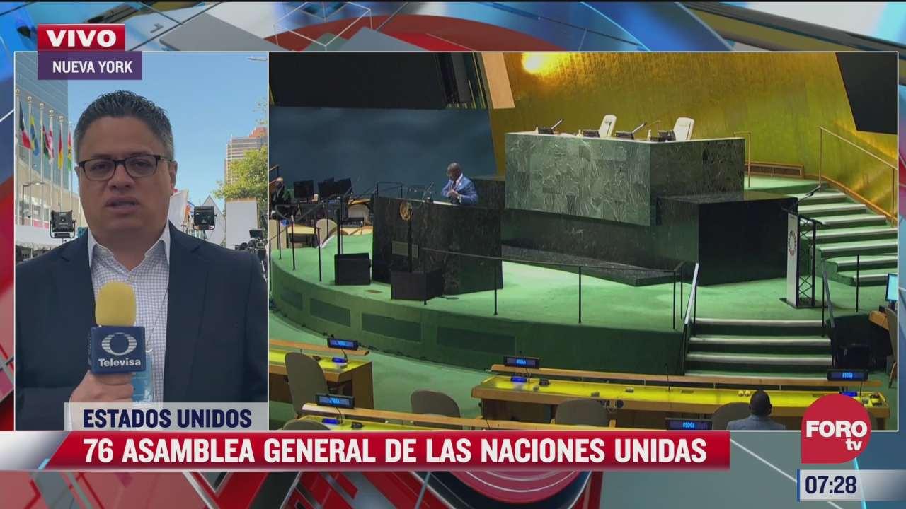 inicia la asamblea general de naciones unidas