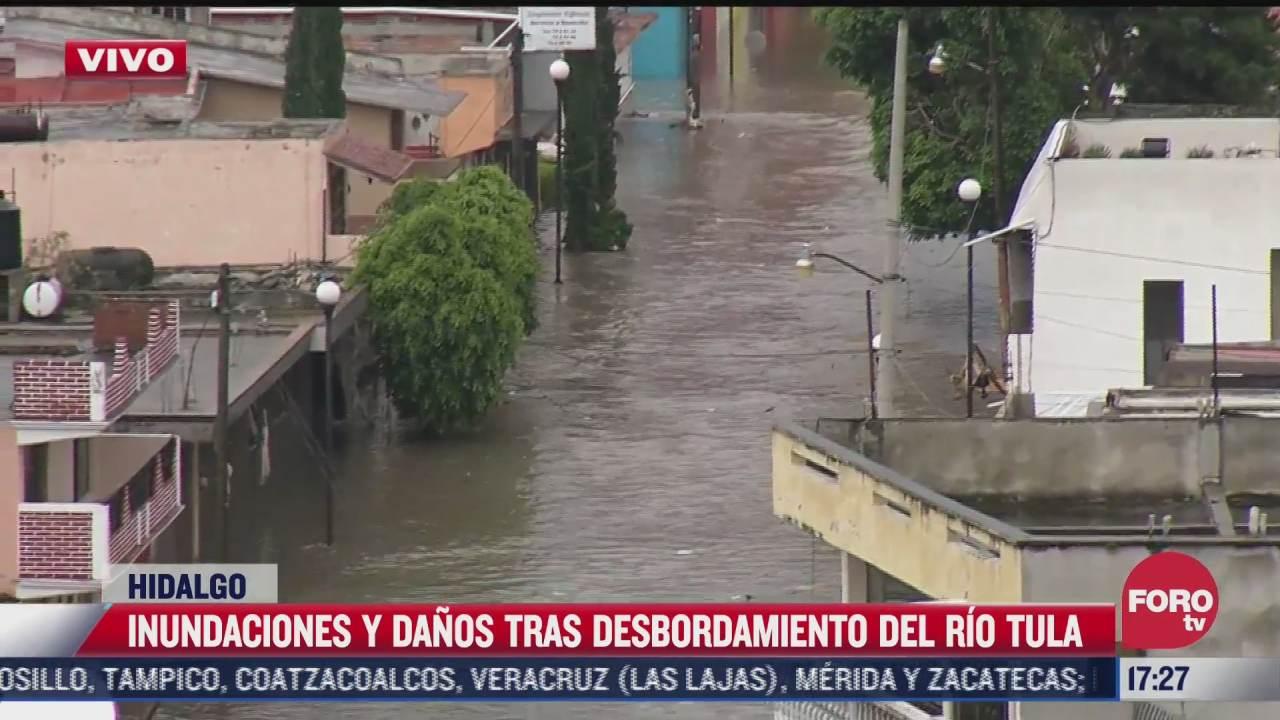 instalan nueve albergues en tula y en tepeji del rio tras inundaciones en hidalgo