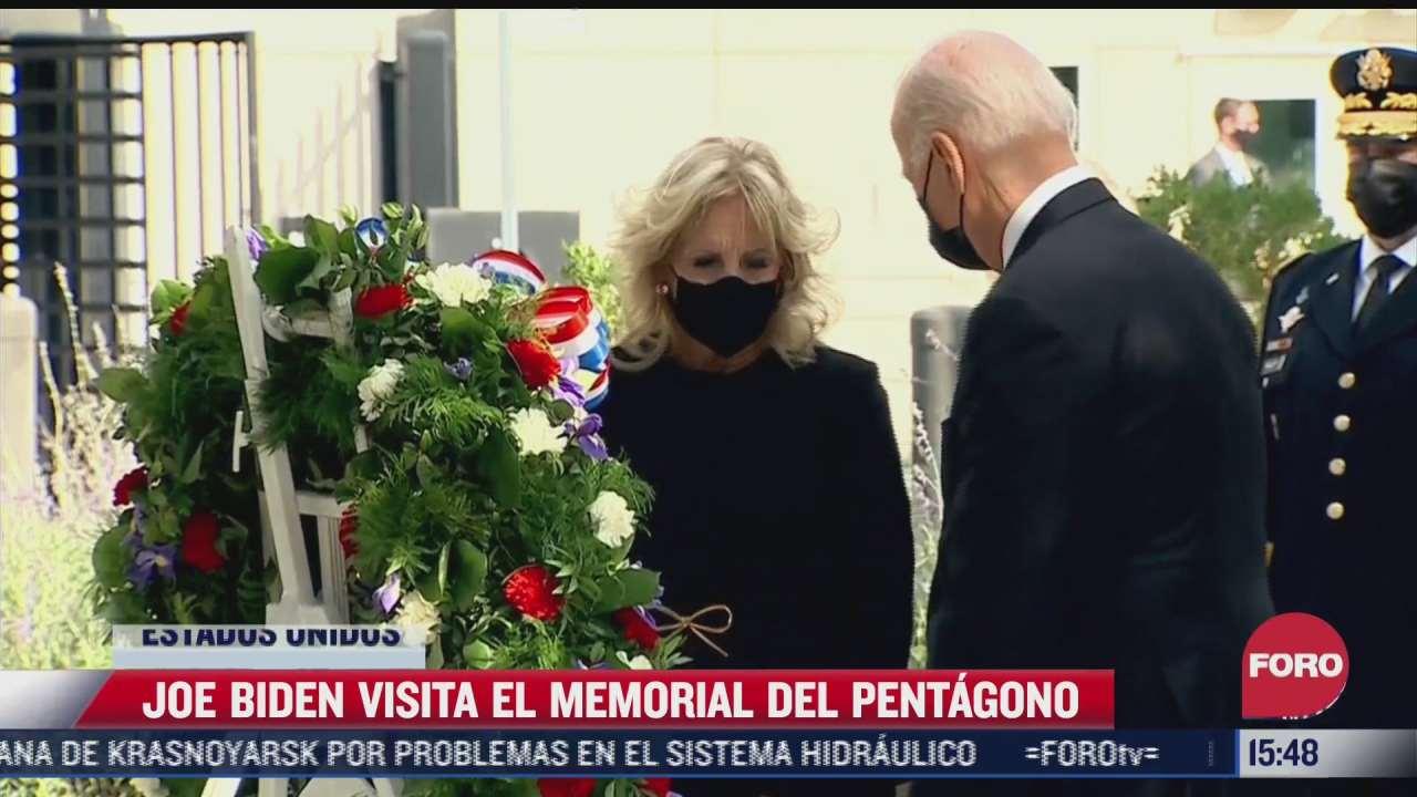 joe biden visita el memorial del pentagono