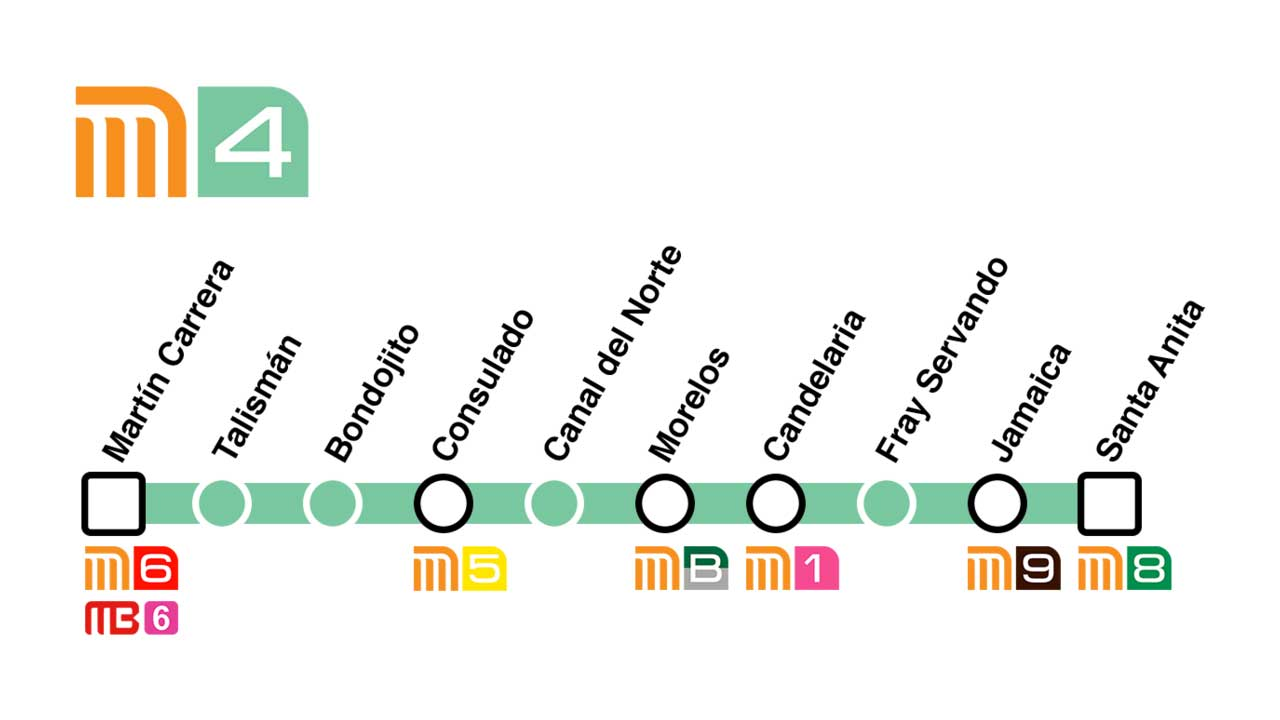 Cuáles son las estaciones de la Línea 4 del Metro CDMX