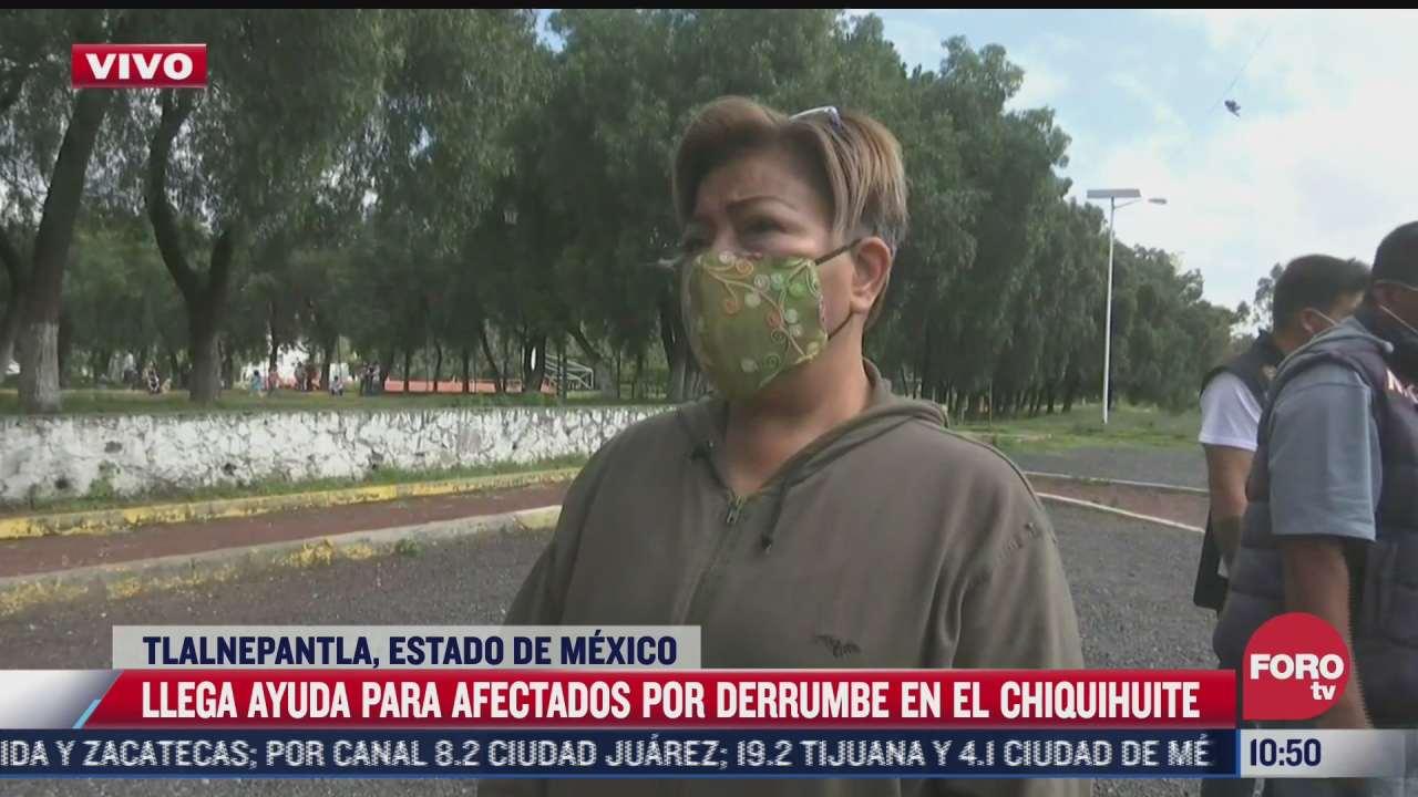 llega ayuda para afectados por derrumbe en el chiquihuite