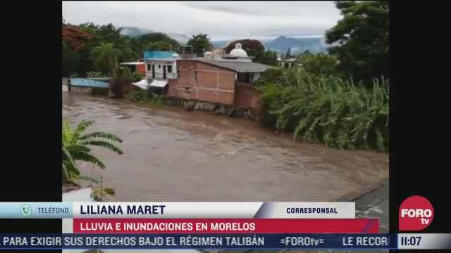 lluvias dejan afectaciones en zona metropolitana de morelos