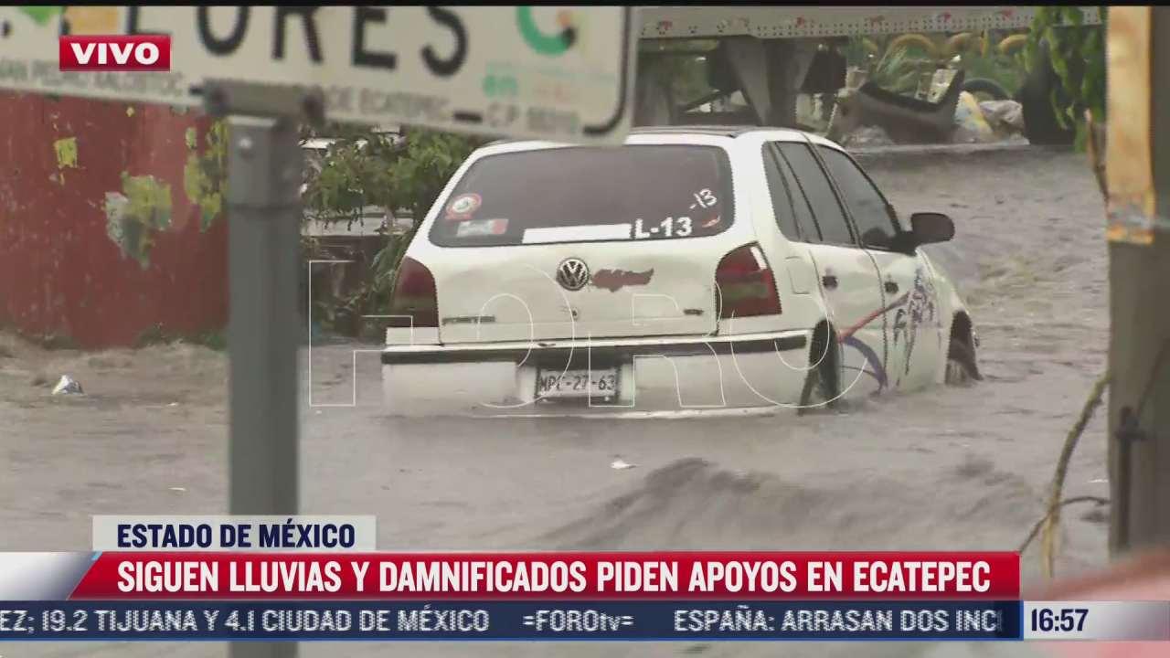 lluvias en ecatepec vuelven a convertir calles en rios