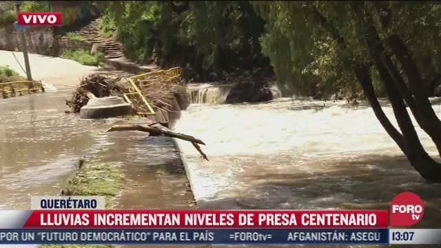 lluvias incrementan niveles del rio san juan en queretaro