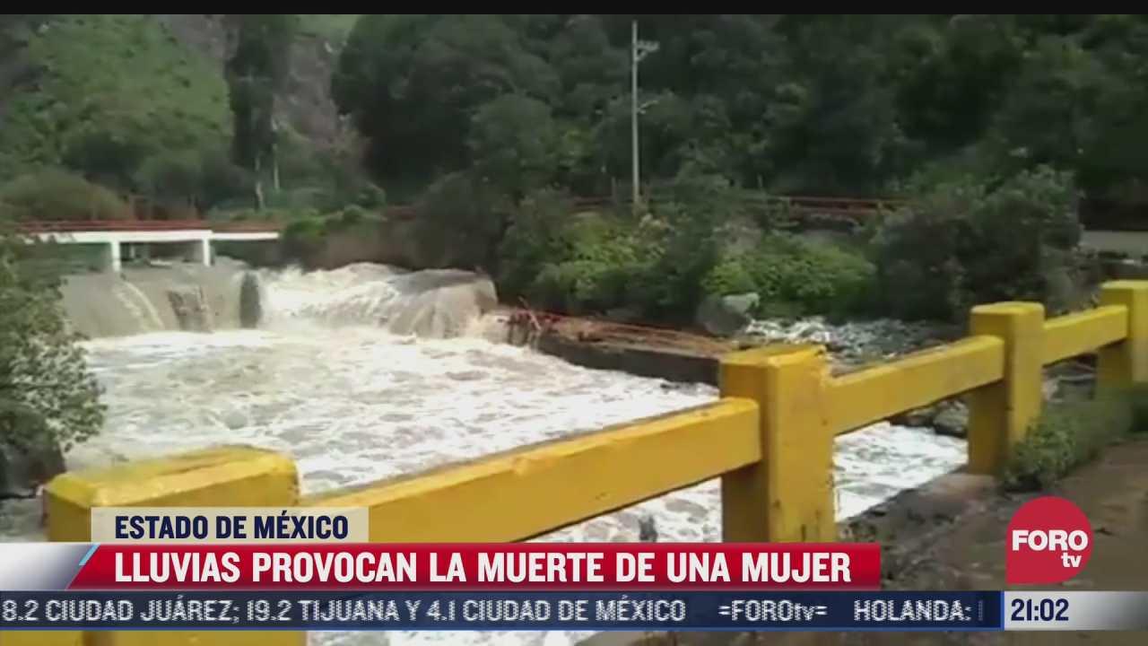 lluvias provocan la muerte de una mujer en estado de mexico