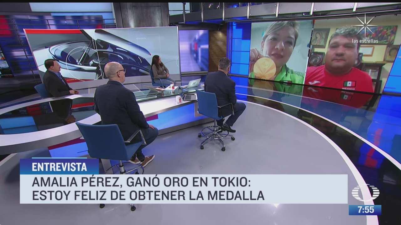 los medallistas paralimpicos arnulfo castorena y amalia perez en entrevista para despierta