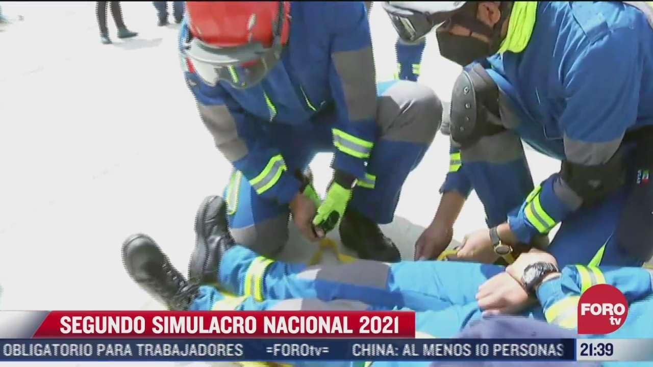 mexico realiza el segundo simulacro nacional