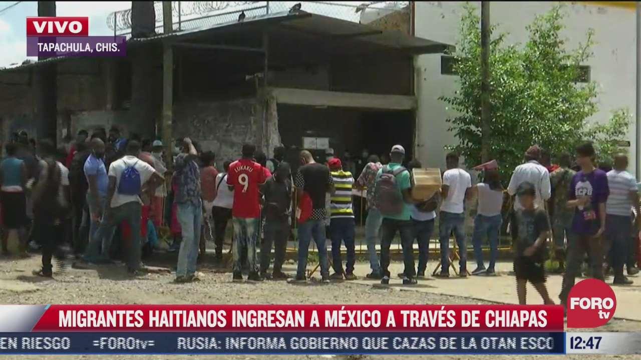 migrantes haitianos ingresan a mexico a traves de chiapas