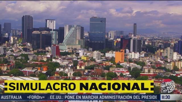 miles de ciudadanos participaron en el segundo simulacro nacional del