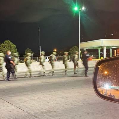 Suman 14 militares mexicanos detenidos tras cruzar frontera con Estados Unidos