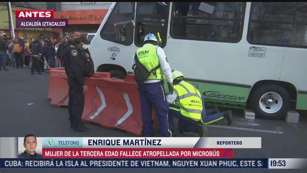 muere mujer de la tercera edad tras ser atropellador microbus en iztacalco