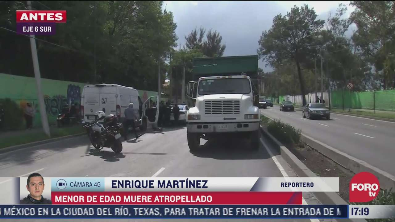 muere nino tras ser atropellado por camion de carga en iztapalapa