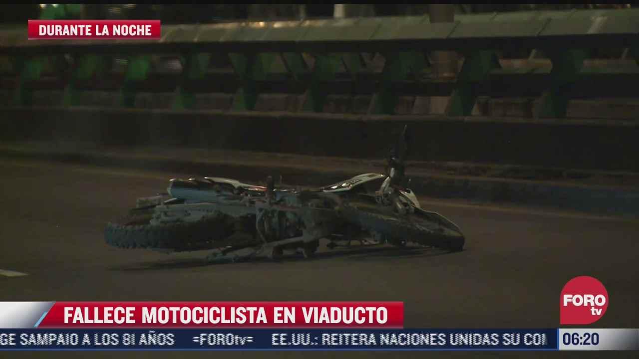 muere sujeto al caer de la motocicleta que conducia en viaducto tlalpan cdmx