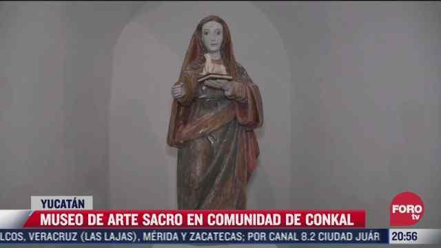museo de arte sacro en la comunidad de conkal en yucatan