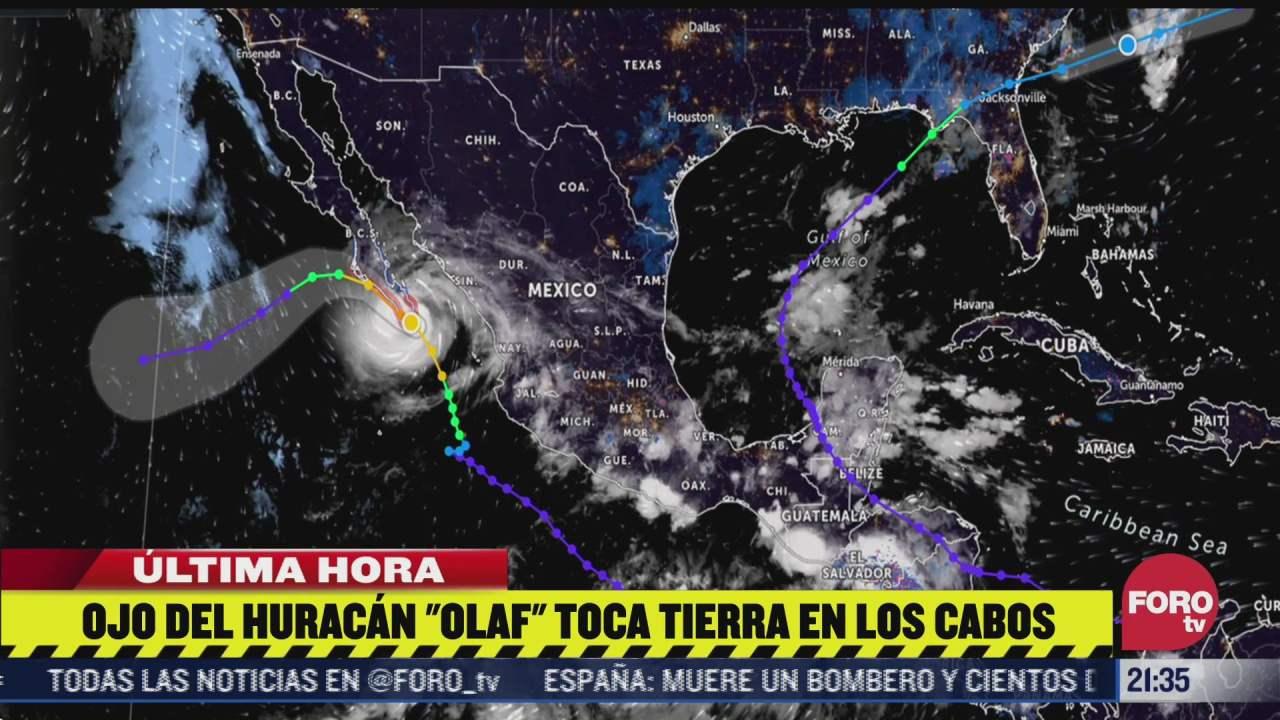 ojo del huracan olaf toca tierra en los cabos