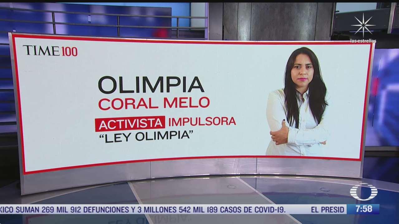 olimpia coral melo impulsora de la ley olimpia entre las personas mas influyentes del