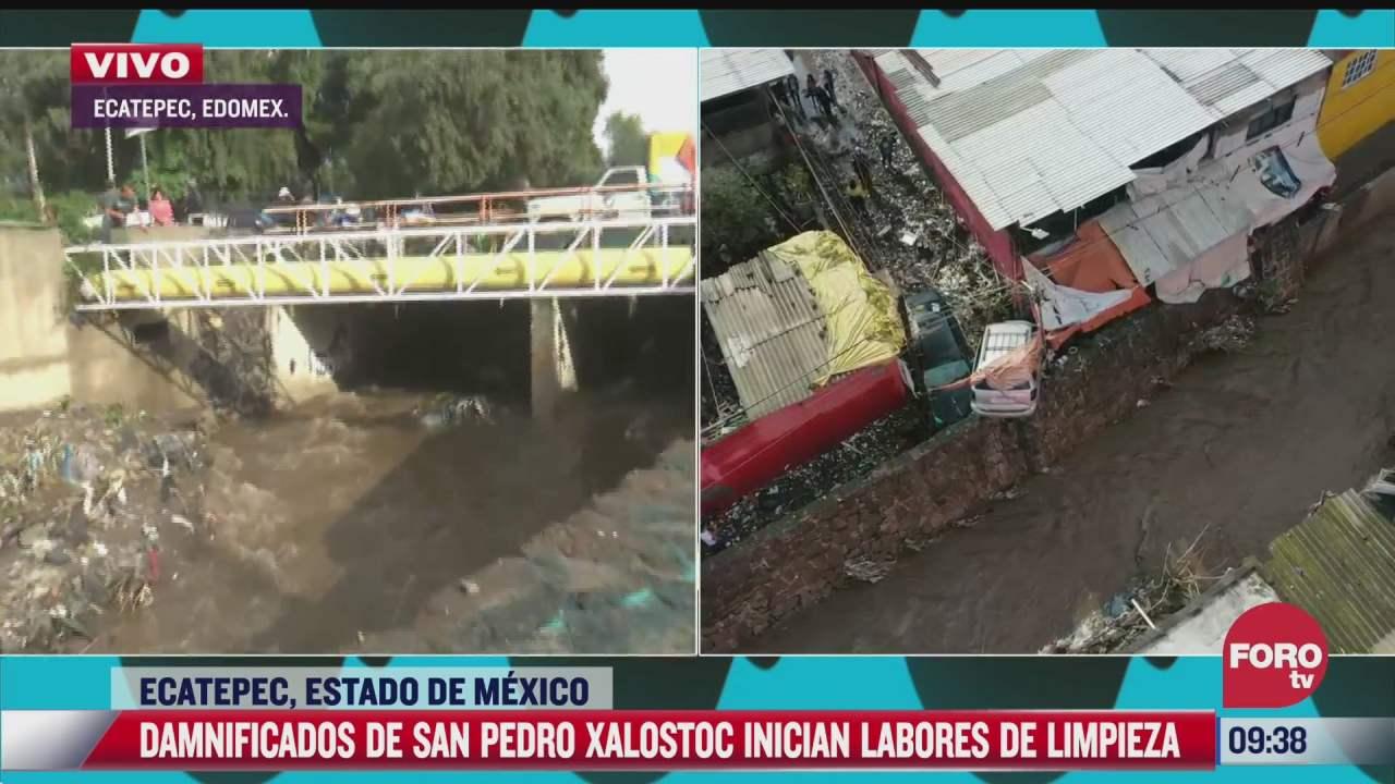 pedimos ayuda a autoridades y que manden pipas de agua dice afectada por inundaciones en ecatepec