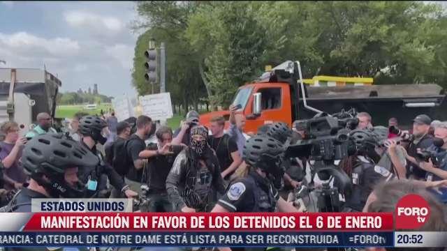 poca participacion en protesta frente al capitolio