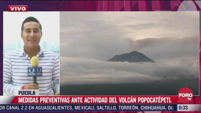 popocatepetl lanza nueva fumarola de tres kilometros