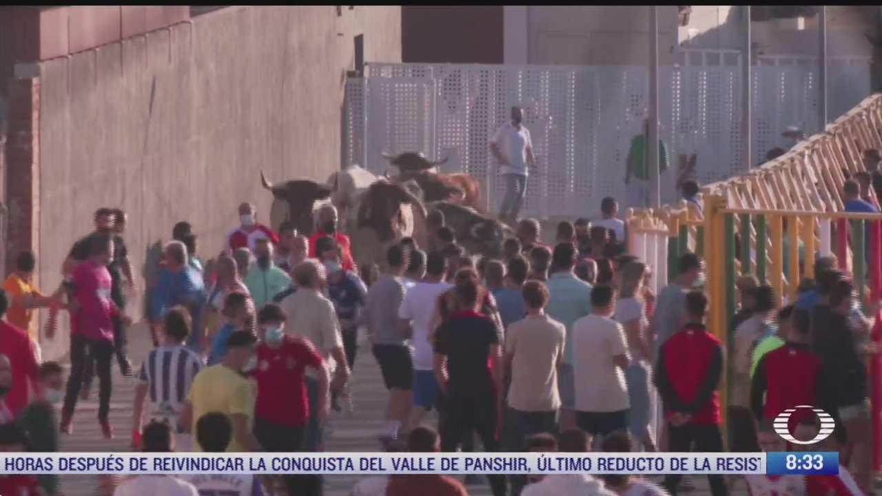 realizan primera fiesta de encierros en espana tras pandemia por covid