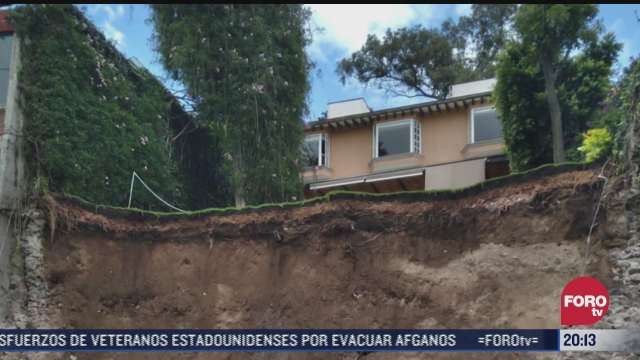se registra deslizamiento de tierras en alcaldia alvaro obregon