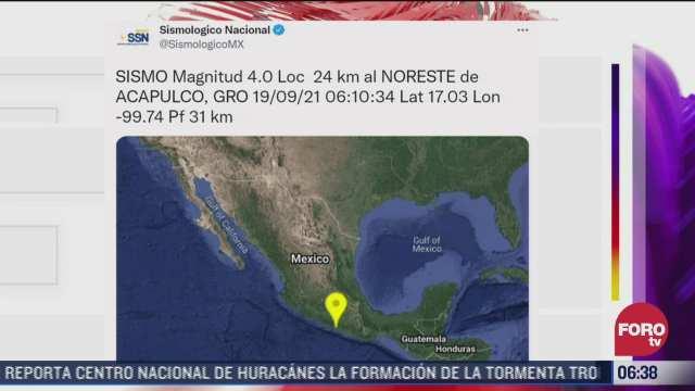 se registra sismo se magnitud 4 0 en acapulco guerrero
