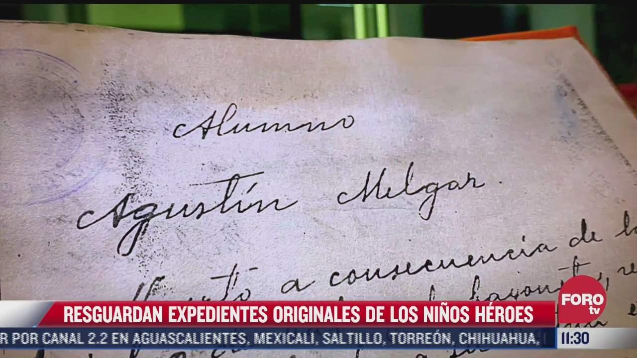 sedena resguarda expedientes originales de los ninos heroes de chapultepec
