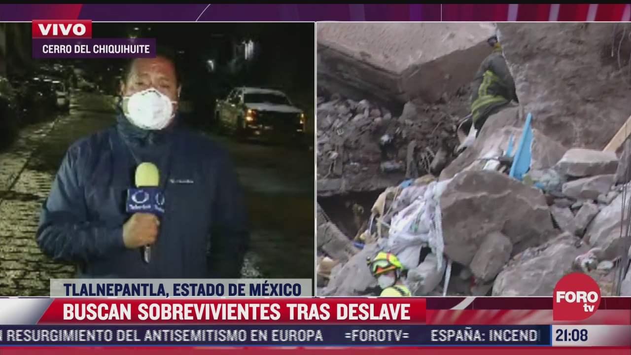 siguen trabajos de rescate de 3 personas en el chiquihuite