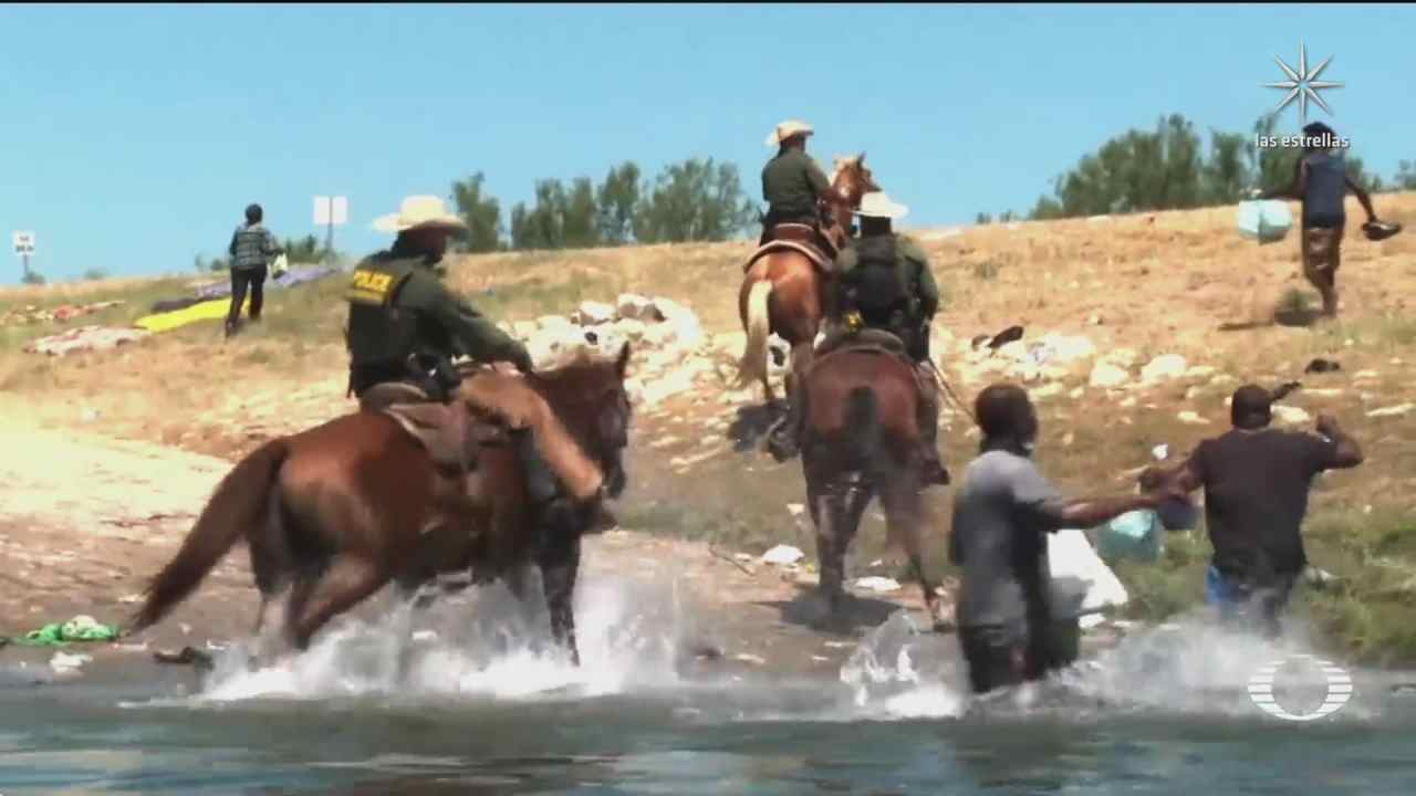 suspenden a agentes fronterizos que a caballo impidieron entrada de migrantes haitianos fueron