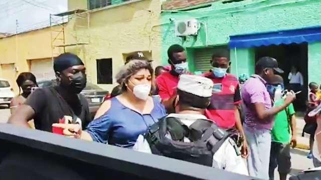Protestan migrantes haitianos en Tampico, Tamaulipas; exigen liberar a compañeros retenidos
