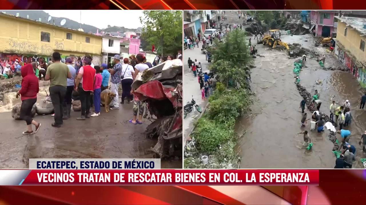 vecinos afectados por inundaciones en ecatepec estado de mexico