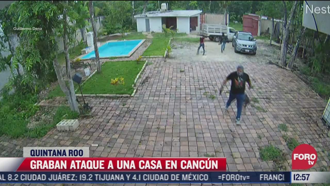 video ladrones irrumpen violentamente en casa de cancun quintana roo