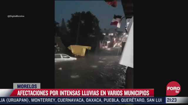 afectaciones por intensas lluvias en morelos