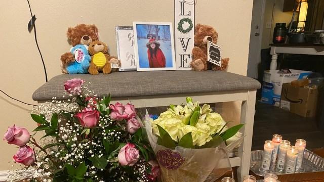 Altar en honor a Gaby Ramos