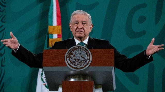 Andrés Manuel López Obrador durante la conferencia matutina en Palacio Nacional