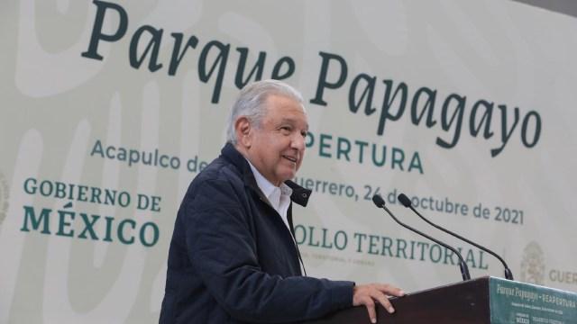 El presidente Andrés Manuel López Obrador encabezó la reapertura del Parque Papagayo en Acapulco, Guerrero.