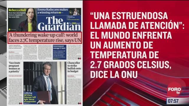 analisis de las portadas nacionales e internacionales del 27 de octubre del