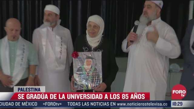 anciana palestina logra graduarse de la universidad
