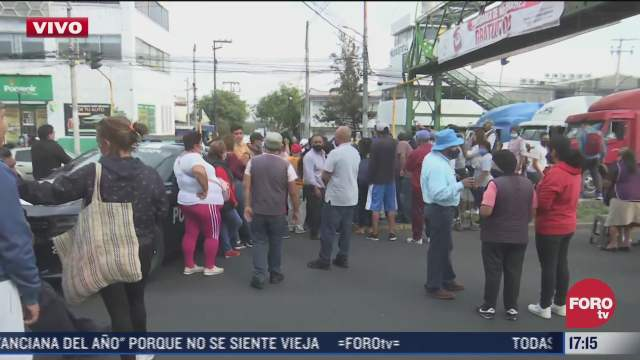 bloquean avenida gustavo baz e ignacio zaragoza tlalnepantla por falta de agua