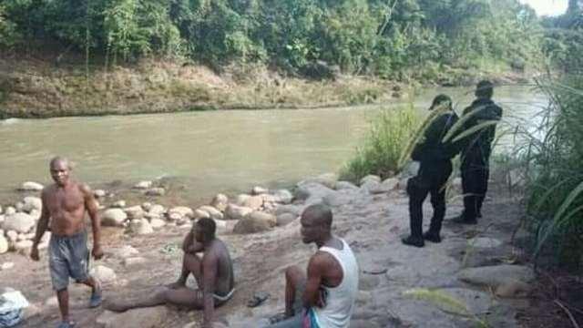 Buscan a niño haitiano que habría caído a un río en Chiapas.