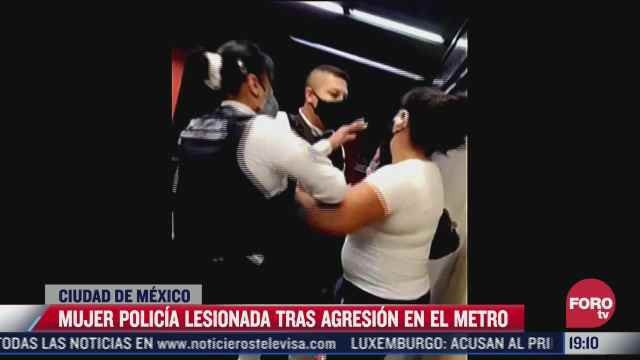 captan agresiones contra policias viales y del metro de la cdmx