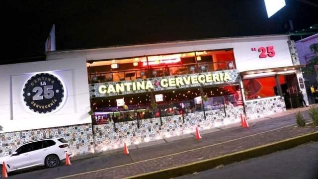 Ataque armado contra la Cantina la 25 Cerveceria (Facebook: Cantina la 25 Cerveceria)