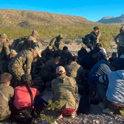 Migrantes en el desierto de Coyame, Chihuahua (Fiscalía de Chihuahua)