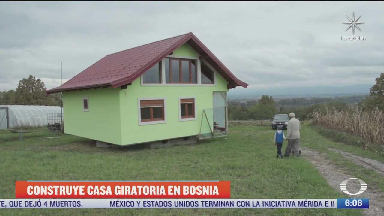 construyen casa giratoria en bosnia