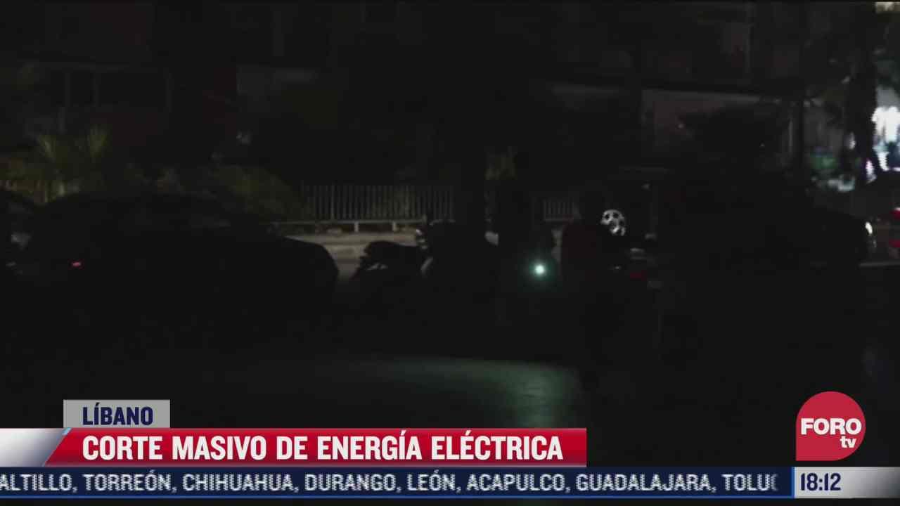 corte masivo de energia electrica en el libano