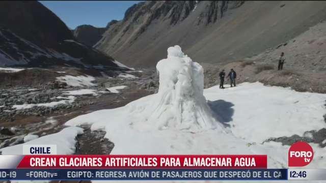 crean glaciares artificiales en chile