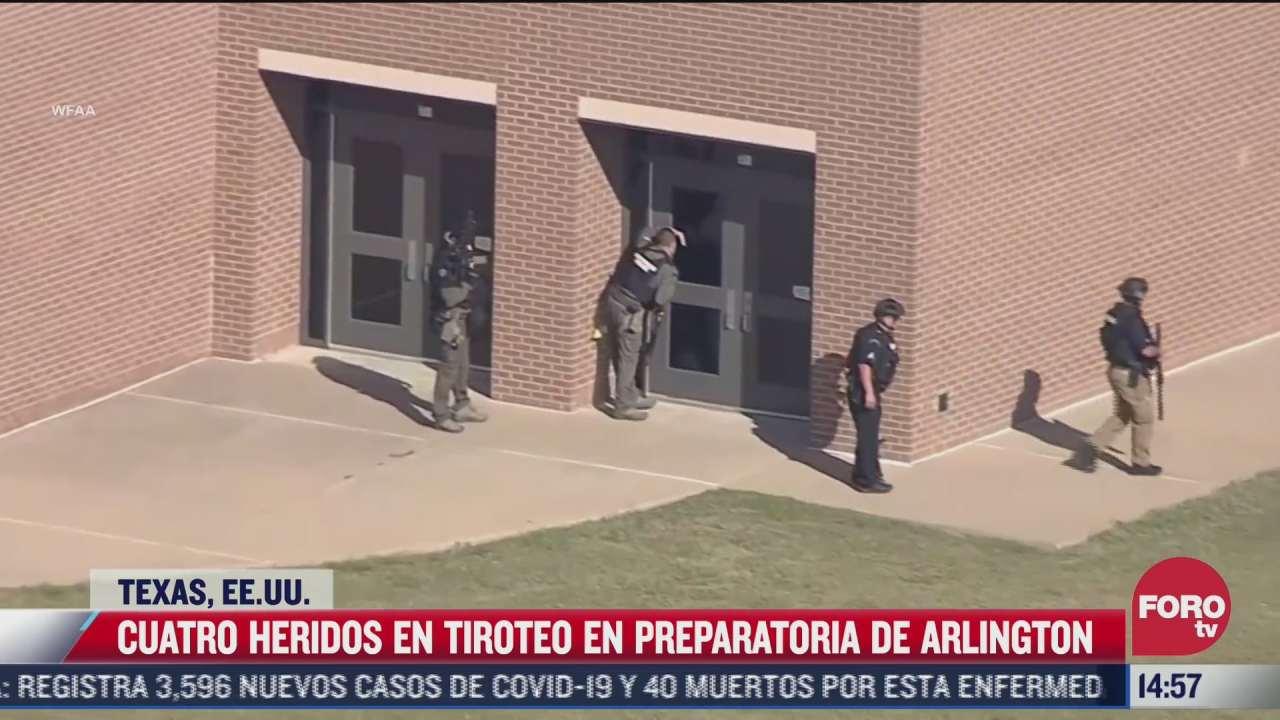 detienen a responsable de tiroteo en preparatoria de texas