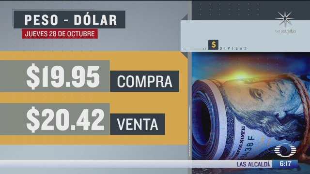 el dolar se vendio en 20 42 en la cdmx del 28 oct