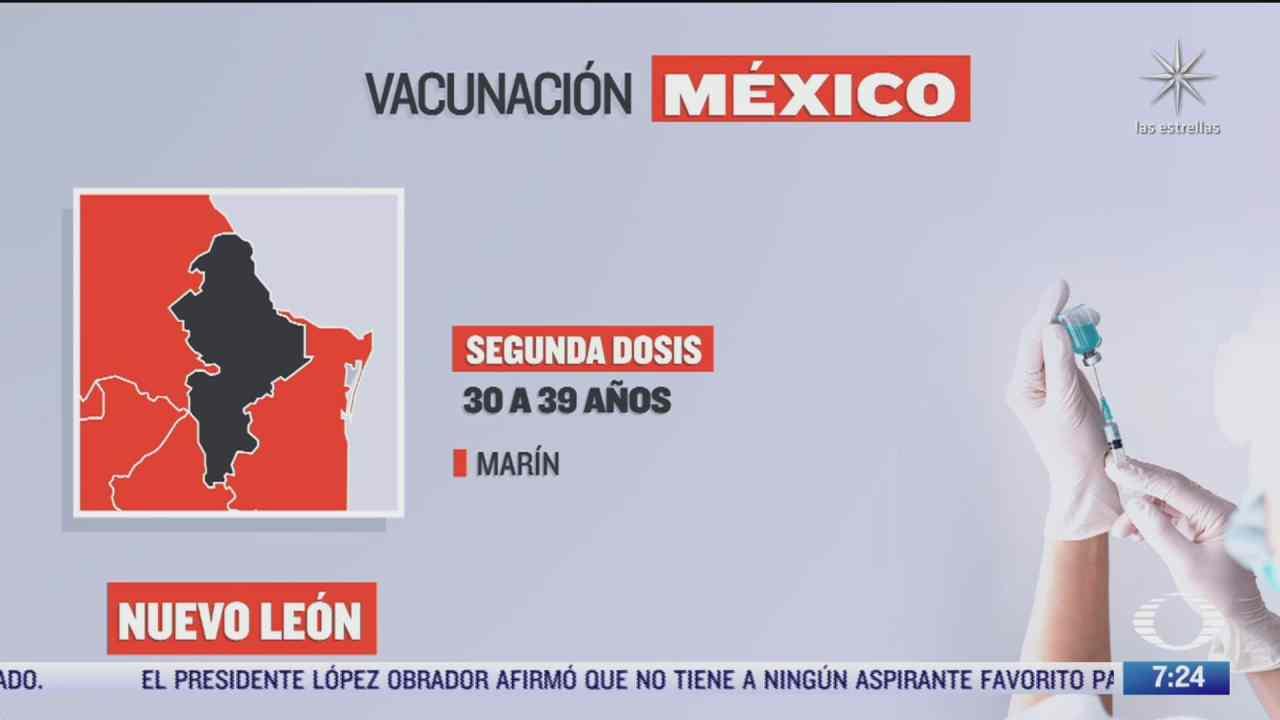 en que estados inicia la vacunacion covid hoy 13 de octubre de